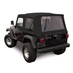 Sierra Offroad Wrangler Soft Top & Door Skins: Black Sailcloth