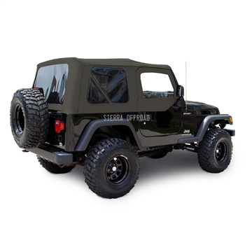 Sierra Offroad 2003-2006 TJ Wrangler Soft Top with Tinted Windows and Upper Doors in Khaki Diamond