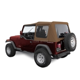 Sierra Offroad Jeep Wrangler YJ Soft Top 88-95 in Spice Denim Tinted Windows | Auto Tops Direct