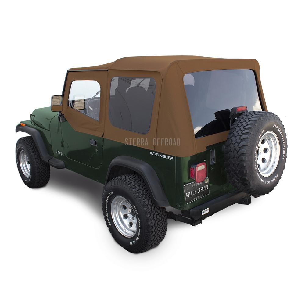 Jeep Wrangler Replacement Soft Top >> Sierra Offroad Jeep Wrangler YJ Soft Top in Spice Sailcloth, Tinted Windows, Upper Doors
