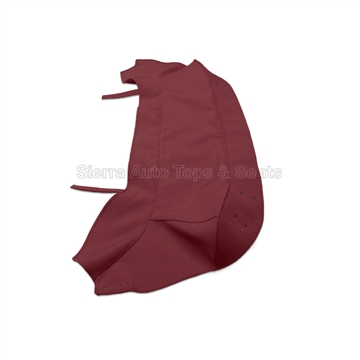 Jaguar XKE Maroon Convertible Replacement Boot Cover with Hardware