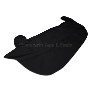 Jaguar XKE Convertible Boot Cover - Black Stayfast Canvas