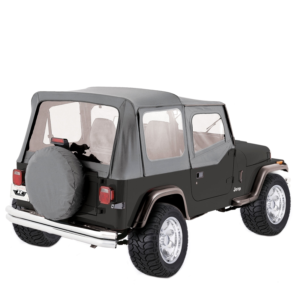 Jeep Wrangler Soft Top W Door Skins 1988 1995 Gray Hard Jeepsoft Topoem Replacementw Skins1988