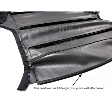 BMW 3-Series Replacement Charcoal, Manual-Lock Headliner, Twill Vinyl | Auto Tops Direct