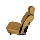 Mercedes SL Roadster Seat Kit, Palomino Vinyl w/ Diamond Insert | Auto Tops Direct