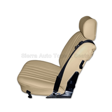 Mercedes SL Roadster Seat Kit 1985 Cream Leather, Diamond Insert