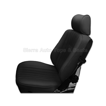 Mercedes SL Roadster Seat Kit - Black Leather w/ Diamond Insert