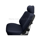 Mercedes SL Roadster Seat Kit - Blue Leather with Diamond Insert