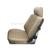 Mercedes SL Roadster Seat Kit, Beige Leather w/ Diamond Insert | Auto Tops Direct