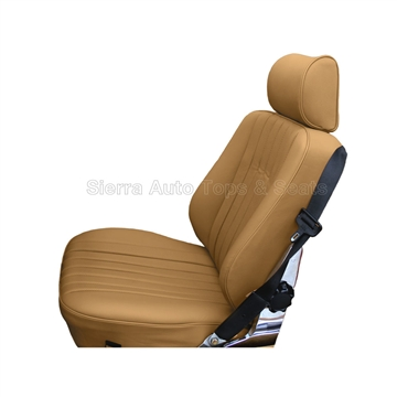 Mercedes SL Roadster Seat Kit - Palomino Leather & Diamond Insert