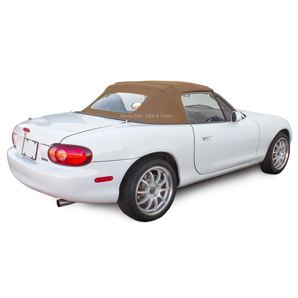 Mazda Miata 1990-2005 Convertible Soft Top With Plastic Window Tan Haartz Cabrio