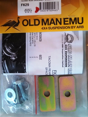"ARB '05+ Toyota Tacoma Rear Driveshaft Spacer ""Fitment Kit"""