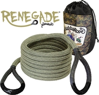 "Bubba Rope 3/4"" x 20' Renegade, 19,000-lb. Kinetic Rope, Black Eyes"