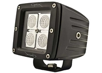 Hella Optilux Cube 4 LED Spot Lights, PR w/harness, relay & switch