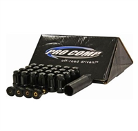 Pro Comp 24-Piece 14x1.5 Lug Nut Kit (Black) - 16144B