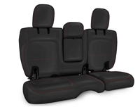 PRP Rear Bench Seat Covers for '18+ Jeep Wrangler JL 4 Door (Leather Interior w/Arm Rest) - Multiple Color Options or Custom (B044)