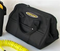 "Power Tank Carry Bag, 13"" Wide Opening Top, Zippered, Blk. Nylon"