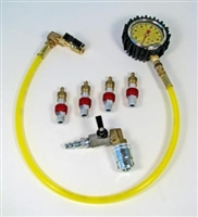 Monster Valves Kit, (4) Valve Kit, Monster Chuck with ball valve, 60 PSI Clip-on pressure ga.