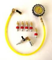 Monster Valves Kit, (5) Valve Kit, Monster Chuck with ball valve, 60 PSI Clip-on pressure ga.
