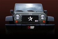 RBP RX-1 Grille for '07+ Jeep Wrangler JK, Black Studded