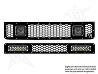 Rigid Industries '07+ Toyota FJ Cruiser Grille Kit, Black (for Use w/2- 6 in. LED Dually Series/SR-Series Lights, sold separately)