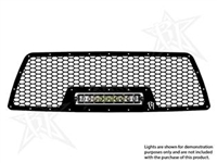 Rigid Industries '05-10 Toyota Tacoma Grille Kit, Black (for use w/10 in. LED SR-Series Light, sold separately)