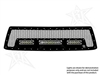 Rigid Industries '12+ Toyota Tundra Grille Kit, Black (for Use w/2- 6 in. LED SR-Series/10 in. LED SR-Series Lights, sold separately)