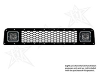 Rigid Industries '10+ Toyota 4Runner Lower Grille Kit, Black (for Use w/2 LED Dually/D2 Series Lights, sold separately)
