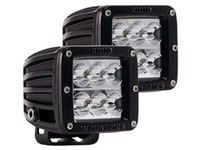 Rigid Industries Dually D2 White LED Wide Beam - Pair (50211)