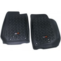Rugged Ridge Jeep Wrangler JK Front All Terrain Floor Liners, Pair - BLACK