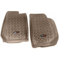 Rugged Ridge Jeep Wrangler JK Front All Terrain Floor Liners, Pair - TAN