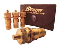 Staun Brass Tire Deflators, 6 - 30 psi, 4 Pack,