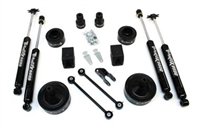 "TeraFlex Jeep Wrangler JK 2.5"" Budget Boost Kit with shocks"