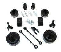 "TeraFlex Jeep Wrangler JK 2.5"" Budget Boost Kit with adapter to re-use OEM shocks"