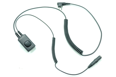 Centurion Very High Noise Coiled Tube Earpiece for  M1 - Motorola 2-Pin