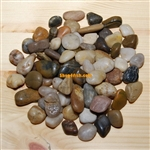 "30 lbs Mix Color Polished River Pebble Stone 0.6""-0.8"""