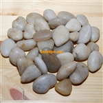 "30 lbs White Polished River Pebble Stone 1.0""-1.5"""