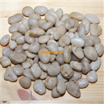 "30 lbs White Polished River Pebble Stone 0.5""-0.8"""