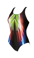 Rapid Swimshop Arena Shining One Piece Womens - Black/Green