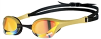 Rapid Swimshop Arena Cobra Ultra Swipe Mirror Goggles Yellow/Copper/Gold
