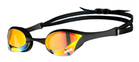Rapid Swimshop Arena Cobra Ultra Swipe Mirror Goggles Yellow/Copper/Black