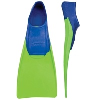 Rapid Swimshop Finis Floating Fins Jr Blue/Lime Green UK 8.5-11 (Euro26-29)