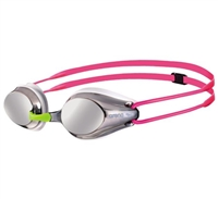 Rapid Swimshop Arena Tracks Junior Goggle Silver/White/Fuchsia
