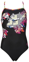 Rapid Swimshop Arena Fantacolor JR One Piece - Black Multi