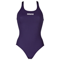 Rapid Swimshop Arena Solid Pro One Piece Womens - Navy/White