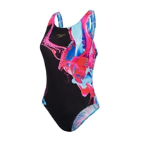 Speedo Endurance+ Placement Powerback Colour Flood - Ladies