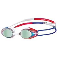 Rapid Swimshop Arena Tracks Mirror Goggle Gold/Blue/Red