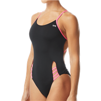 Rapid Swimshop TYR Solid Tetrafit Black/Pink- Youth
