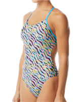Rapid Swimshop TYR Zazu Cutoutfit Pink/Blue Youth