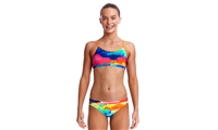Funkita Racerback Two Piece Cumulus - Girls Rapid Swimshop